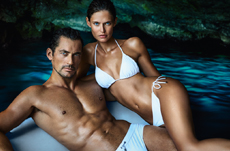 crosslink_dolce and gabbana bianca balti david gandy light blue eau intense perfume women men ad campaig