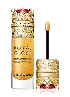 dolce and gabbana make up lips royal gloss secret gold